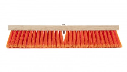 Flagged Orange Medium Push Broom